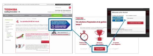 Exemple de collecte de contacts avec système de diagnostic gratuit proposé sur site web
