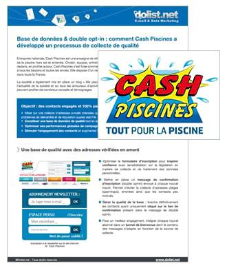 Base de données & double opt-in : le cas Cash Piscines