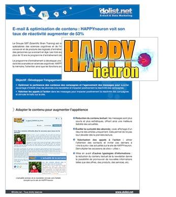 E-mail & optimisation de contenu : HappyNeuron