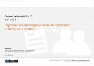 Conseil délivrabilité Dolist : forme et contenu de vos e-mails
