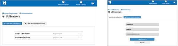 Nouvelle gestion de vos utilisateurs depuis l'interface de connexion Dolist-V8