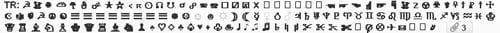 Exemple de rendu visuel de caractères spéciaux sur Yahoo! Mail