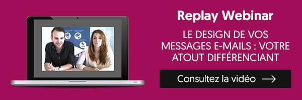 Replay webinar création des e-mails