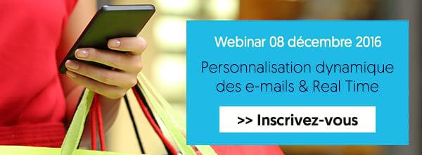 Webinar Personnalisation dynamique des e-mails & Real Time