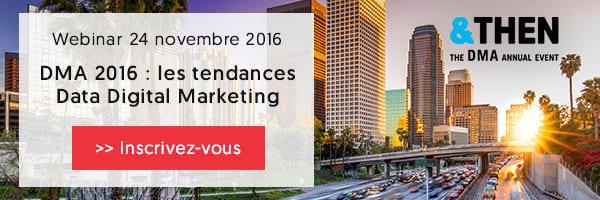 Webinar DMA 2016 : tendances data digital marketing