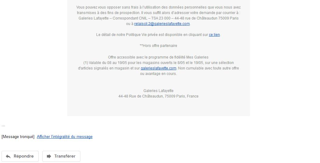 Message tronqué par Gmail
