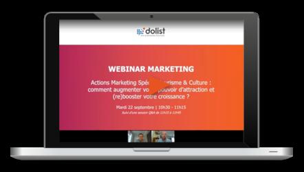 Webinar Actions Marketing Spécial Tourisme & Culture