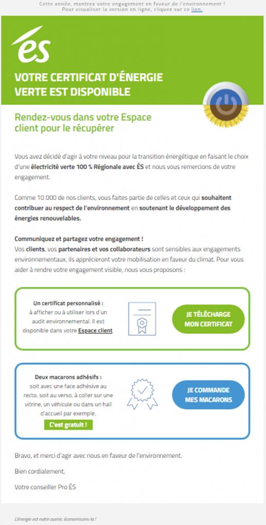 ES Énergies : des e-mails moins énergivores