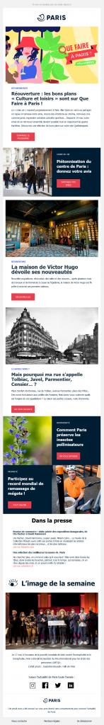 Newsletter La Ville de Paris